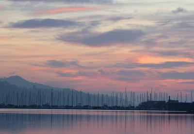 Sausalito Sausalito, рассвет, залив