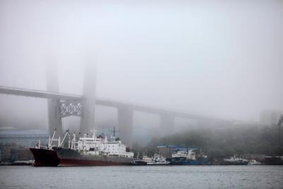 Туман Владивосток Золотой Рог