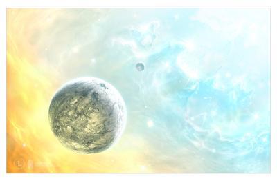Home of Light | Дом Света дом света планета туманность светлый космос белый желтый голубой будущее фантастика