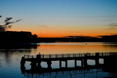 Закат на Волге река Волга закат
