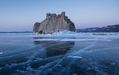 Шаргодагон . Байкал Малое море Шаргодагон Приморский хребет лед торосы Март