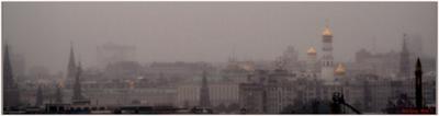 Погрузились... Москва Кремль Мерседес Туман панорама