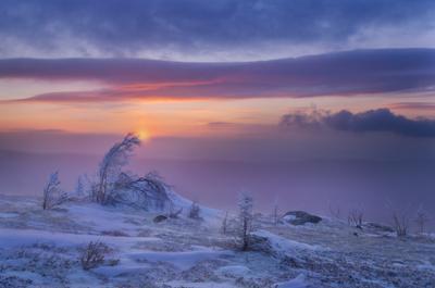 Зажигая новый день Таганай рассвет природа пейзаж златоуст Таганай-гора метеостанция