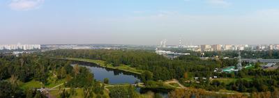 ***Джамгаровский пруд сверху Панорама Мытищи Москва