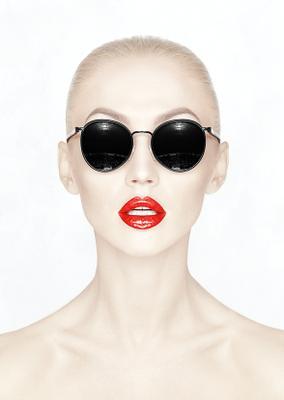оооо гламур портрет очки лицо девушка реклама губы