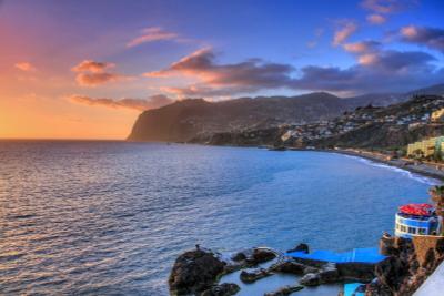 Закат в Фуншале. Мадейра закат Мадейра Португалия океан небо
