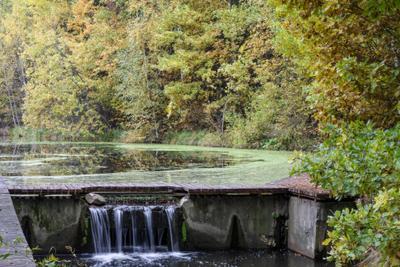 Без названия осень водопад озеро