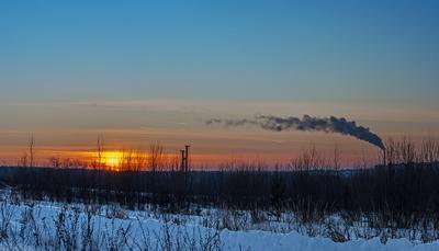 Закат с окраина г.Чебоксары.