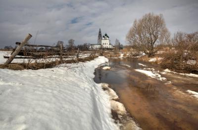 Весенняя пора Осенево Лахость село весна
