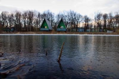 Together весна, озеро, лед, турбаза