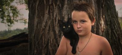 Сказка про черного котенка и мальчика