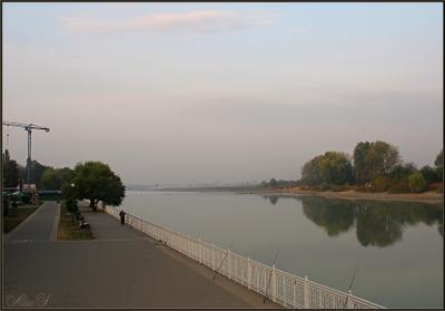 г. Краснодар. Рано утром. Река Кубань.*** Краснодар утро
