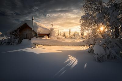Февральское солнце...2 Зима Закат Кольский полуостров Север Мурманская область