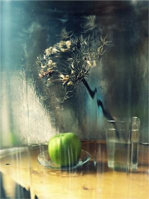 """""""Сон зелёного яблока в дождливый день"""" (Из серии """"Натюр-сны зелёного яблока"""")"""