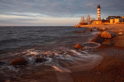 Шепелёвский маяк Шепелёвский маяк Финский залив вечер Шепелево Ленинградская область