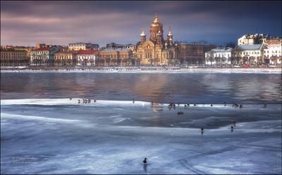 Зима в Санкт-Петербурге...
