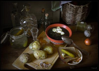 А не желает ли сударь супу грибного? Водка Суп Грибы