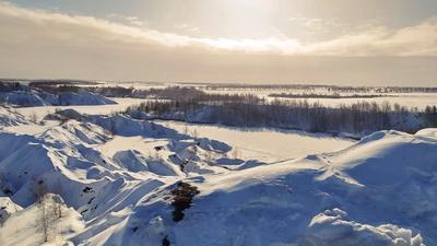 Кондуки зимой. Тулская обл Романцевские горы Кондуки