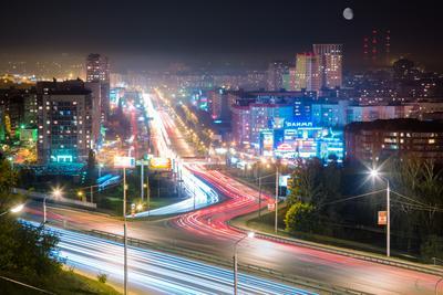 Спальный район Уфа ночь сипайлово длинная выдержка