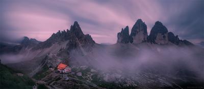 *** альпы фототур доломиты италия горы рассвет