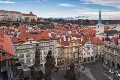 Крыши Праги. Прага Новый год Солнце Тепло