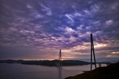 Гиганты Владивосток Восток море корабли мост Русский