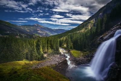 Криммльский водопад Альпы