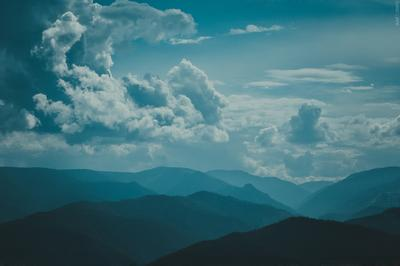 """Начало"" небо облака тучи горы Байкал свобода"