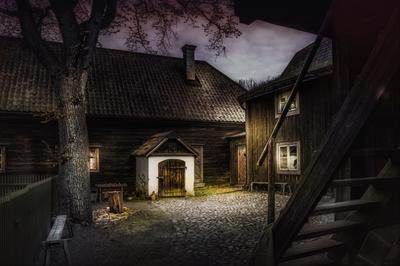 ***Дворик шведского крестьянина в музее Скансен. Стокгольм.Швеция.