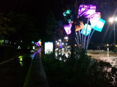 Предновогодняя Ялта Ялта Крым набережная ночь Новый год