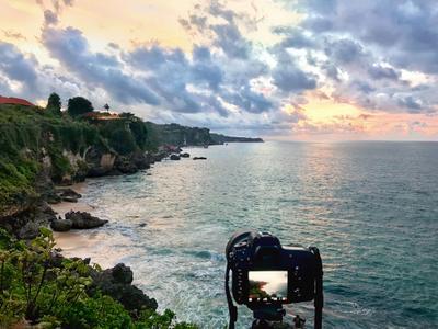 Фотографируя красивейший закат на Бали. закат море бали пейзаж природа