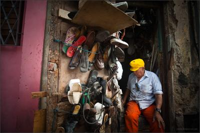 Гавана, ремонт обуви. Куба Гавана обувь