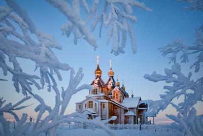 Изморозь (4) Чукотка Анадырь Храм Святой Живоначальной Троицы зима изморозь иней