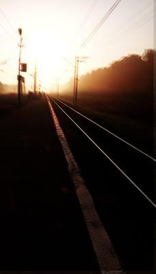 *** Сентябрь 2021 платформа Кузяево Гжель утро рассвет