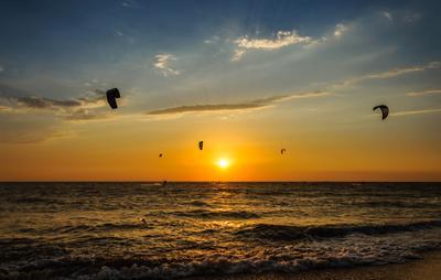 *** кайт закат море солнце лето