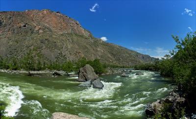 Пороги речки Чулышман