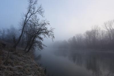 Светает утро река