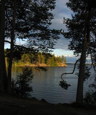 Кереть-озеро. Вечер перед стартом озеро карелия вечер