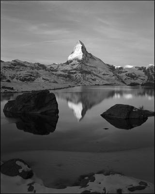Касание света Matterhorn Zermatt large format 4x5