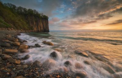 Черноморский вечер Чёрное море туапсе скала Киселёва вечер закат