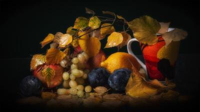 Сентябрьский натюрморт. осень натюрморт