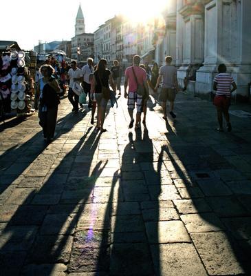 Воскресный вечер на набережной Венеции