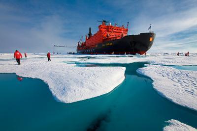 Прогулка по Северному Полюсу северный полюс, арктика, ледокол, 50 лет победы