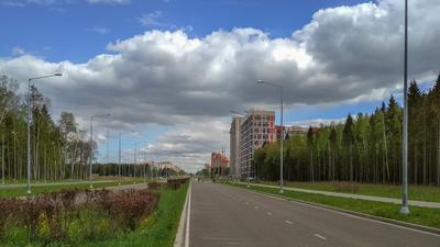 *** пейзаж природа город архитектура Обнинск Россия весна облака