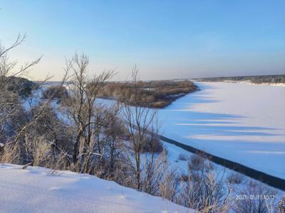 Река Ока Рязанская обл Касимов Лашма