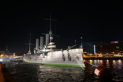 Дремлет Аврора Санкт-Петербург Аврора ночная крейсер