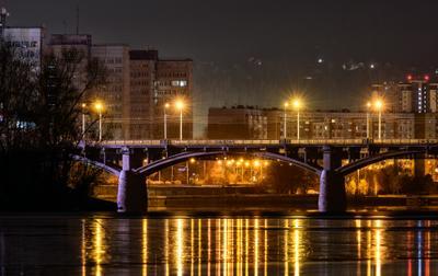 *** Красноярск Коммунальный мост ночной город