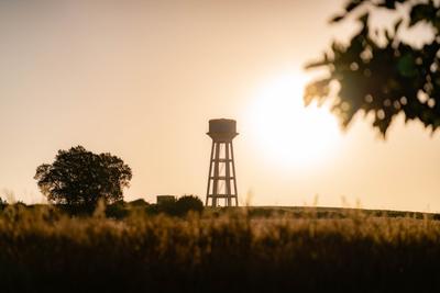 Восход рассвет Анталия водонапорная башня