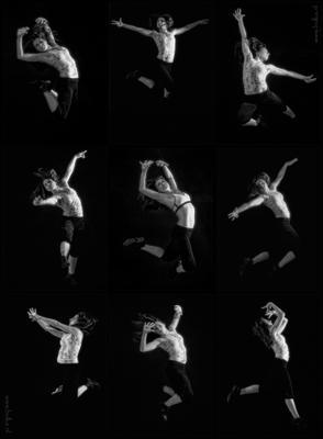 Танцы со светом современные танцы, чб