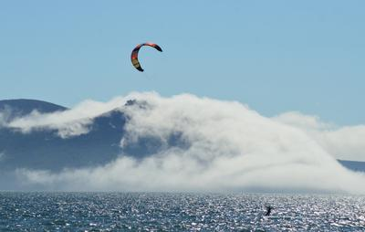 Экстрим спорт море лето туман